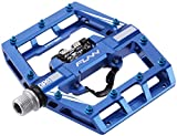 Funn Mamba MTB Pedal Set, Single Side Clip, SPD Compatible (Blue)