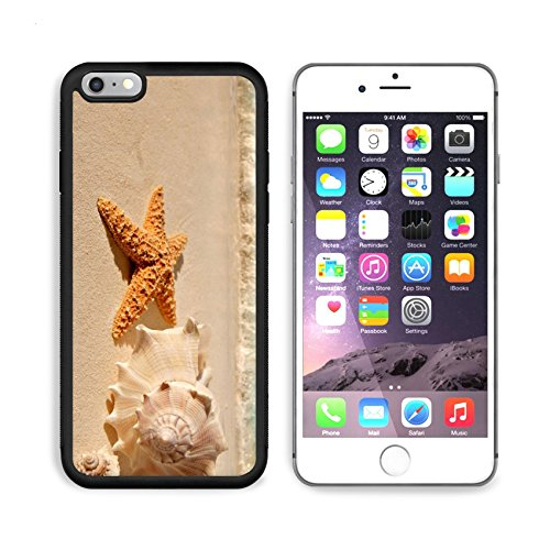 iPhone 7/7s Plus Metal Phone Case,MSD Bumper Custom Alum Case Design for travel summer sea beach star starfish tourism coast shore nature shell tropical tropic life macro