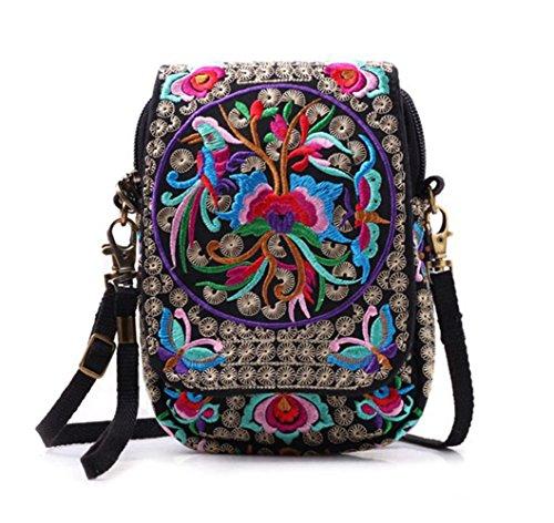 anvas Crossbody Bag, Women Messenger Bag, Cellphone Pouch Purse (Galaxy Canvas Shoulder Bag)