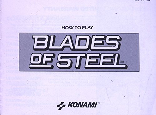 How to Play Blades of Steel NES Instruction Booklet