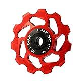 GBSELL 11T MTB Ceramic Bearing Jockey Wheel Pulley Road Bike Bicycle Rear Derailleur (Red)