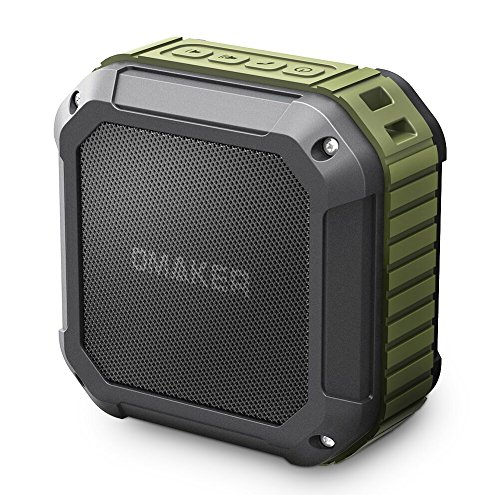 Omaker M4 Outdoor Portable Bluetooth Speaker with 12 Hour Playtime,Waterproof Wireless Shower Speaker for Outdoor(Army Green)