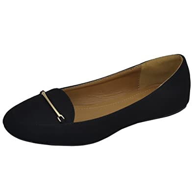 Amazon.com | Cambridge Select Women's Slip-On Closed Round Toe Flat Driving Smoking Loafer Flat | Shoes
