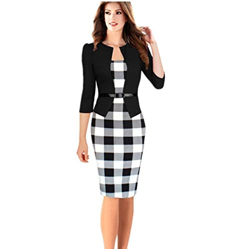 Shiratori Sleeve plaid dress w...