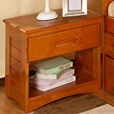 Discovery World Furniture Nightstand, Honey