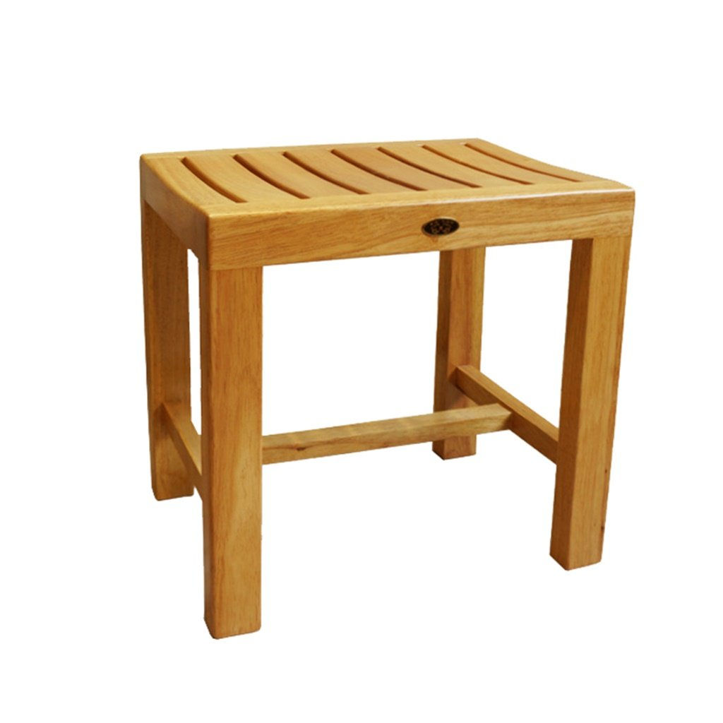 ヘルスケアシャワースツール バスルーム防水滑り止め安全安定コンフォートバスチェアチェンジシューズスツール高齢者/障害者用/妊娠中のソリッドウッドバススツール曲面の椅子最大。 250kg(44 * 33 * 45cm) バスルームバススツール   B07JZJ6BB5