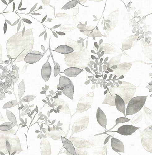 A-Street Prints 2716-23867 Gossamer Grey Botanical Wallpaper,