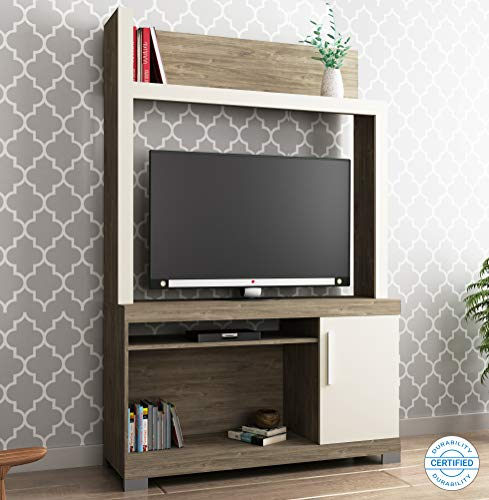 Home Edge Eone Engineered Wood TV Entertainment Unit Multipurpose Display Storage Cabinet for Living Room Home  White