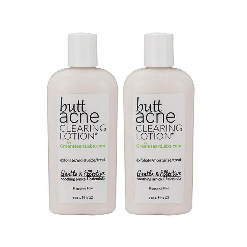 Butt Acne Clearing Lotion by Green Heart Labs - 2 pack