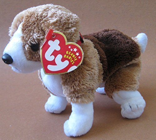 TY Beanie Babies Side-Kick the Dog Plush Toy Stuffed Animal (Babies Kicks Beanie)