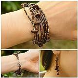 Guatemalan Coffee Bean Bracelet Earrings Set, Handmade Fashion Jewelry Gift -Itzel