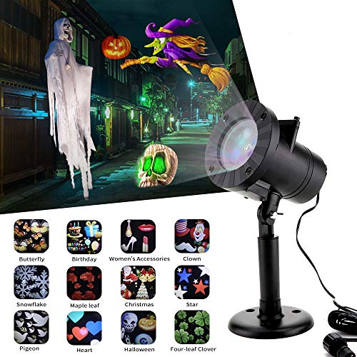 Halloween Decorations Projector Lights MZD8391 Outdoor Moving Rotating