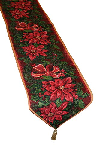 - Violet Linen Decorative Christmas Tapestry Table Runner, 13