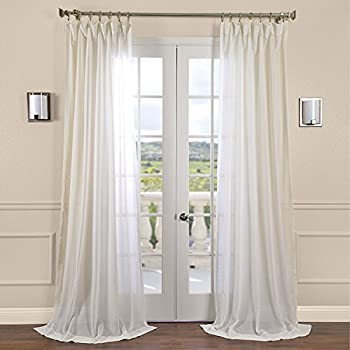 Amazon Com Half Price Drapes Shlnch J0108 108 Linen Sheer