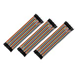 Best uxcell Long Boards - uxcell® 3pcs Male to Female 40P Jumper Wire Review
