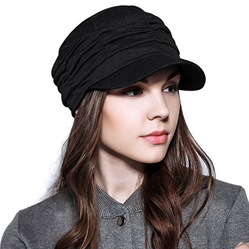 ANMIDE Womens Newsboy Cabbie Hat Beret Cap Cloche Cotton Painter Visor Hats Summer Sun Hat by ANMIDE