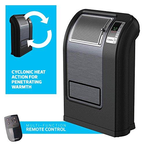 Lasko Cyclonic Digital Ceramic 1500 Watts Heater, Save-Smart Technology, Multi-Function Remote Control Ceramic Heaters Lasko