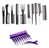 Best Barber Combs - Le Fu Li 10pcs/Set Professional Hair Brush Comb Review
