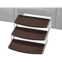 Prest-O-Fit 2-4111 Chocolate Brown 22 Wide Outrigger Radius XT RV Step Rug Walnut, 3 Pack, 3