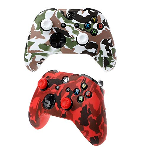 Camo Silicone Case Cover For Xbox Series X&S Controller - [2-Pack] 2021 New Rubber Skin Gel Slim Grip Gamepad Camouflage Color