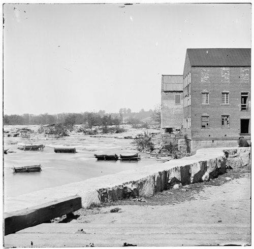 Photo  View  James River  Haxalls Flour Mills  Richmond  Virginia  American Civil War  1865   Size