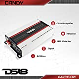 DS18 CANDY-X4W Amplifier in Black - Class D, 4