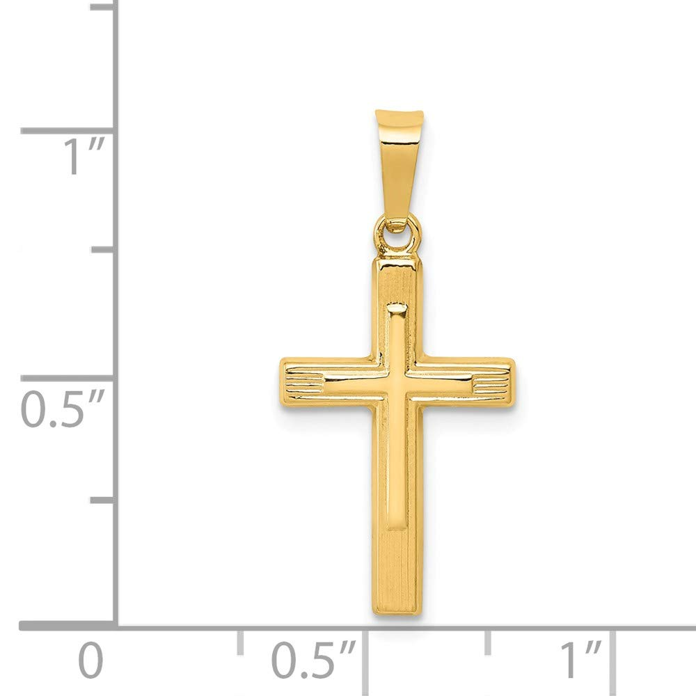 Mia Diamonds 14k Yellow Gold Polished Cross Latin Pendant