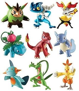 Pokemon - Pack de 3 figuras - Quilledin, Frogadier, Braixen (Bizak ...