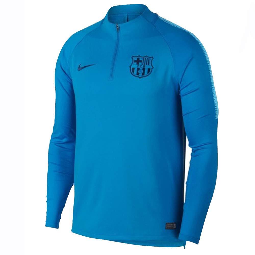 dd0f9686b Amazon.com : Nike 2018-2019 Barcelona Drill Training Top (Equator Blue) -  Kids : Sports & Outdoors