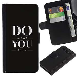 Stuss Case / Funda Carcasa PU de Cuero - FA QUELLO CHE AMI - Samsung Galaxy S3 III I9300