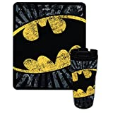 Northwest Warner Brothers Batman Dark Bat 16 oz Travel Mug & 50'' x 60'' Fleece Throw Blanket Gift Set