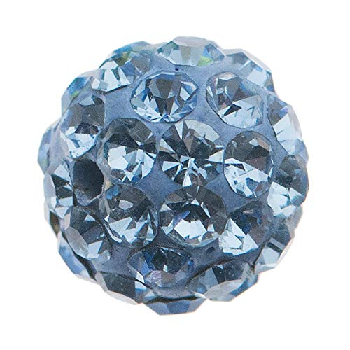 - Dreambell 1 pc Ferido CZ Crystal Round Ball Spacer Bead Light Sapphire Blue 6mm / Findings