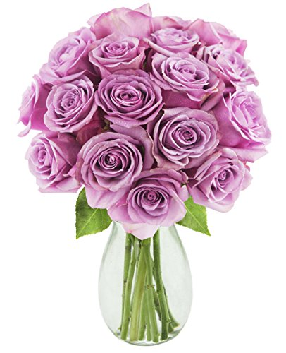 Bouquet of Long Stemmed Lavender Roses (Dozen and a Half)