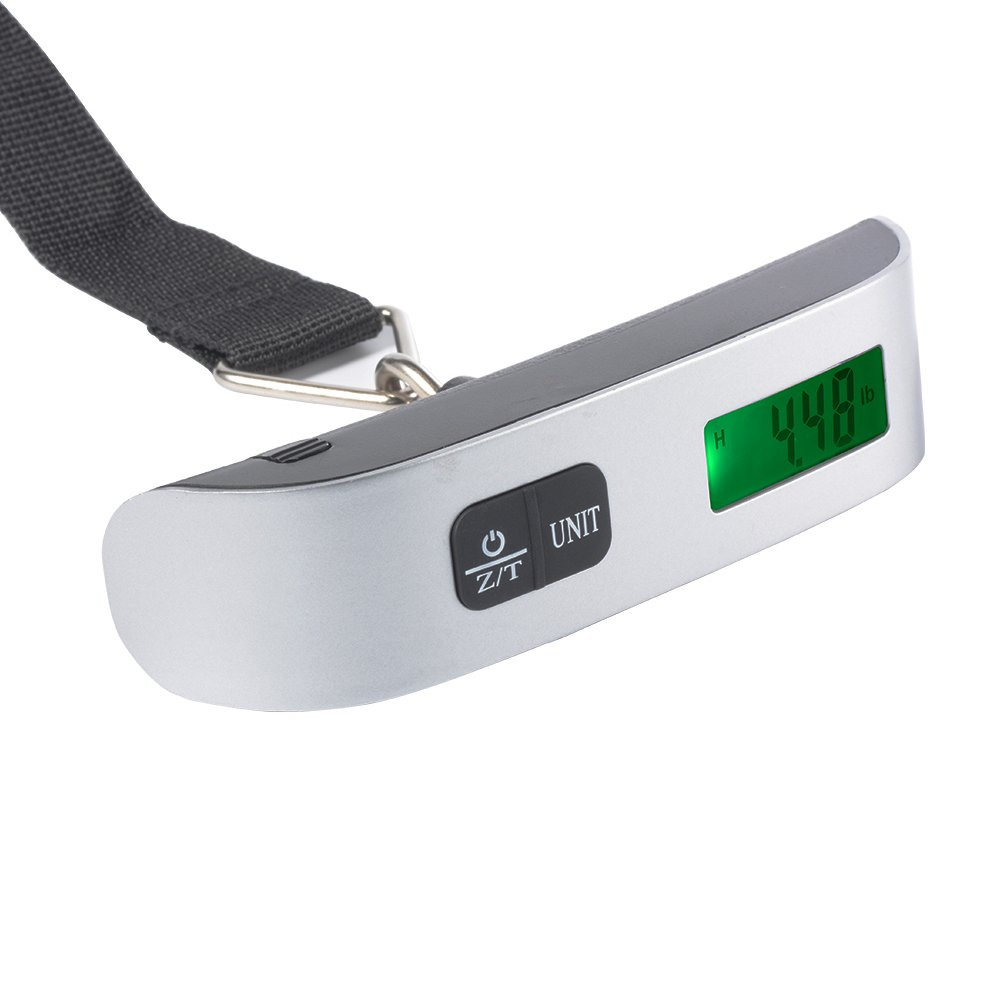 XCSOURCE 50kg/110lb Portable Digital LCD Electronic Luggage Weighing Scale Handheld Travel Suitcase Bag Scale with Hanging Strap TE823