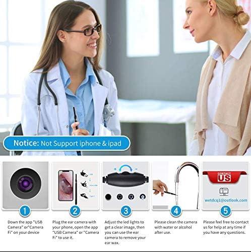 Ear Camera Wax Removal Otoscope- WETDCQ HD Waterproof Ear Scope Camera with Earwax Cleaning Tool, Ear Endoscope with Earwax Cleaning Pick for Android/Windows/Mac