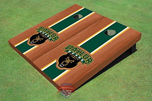 - Baylor University Bear Green Rosewood Matching Long Strip Cornhole Boards, 2x4 (24