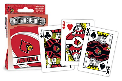 MasterPieces NCAA Sports Playing Cards, Red, 4
