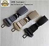 Car Seat Belt Extender -Type A (2.15cm wide metal tongue) (Black)