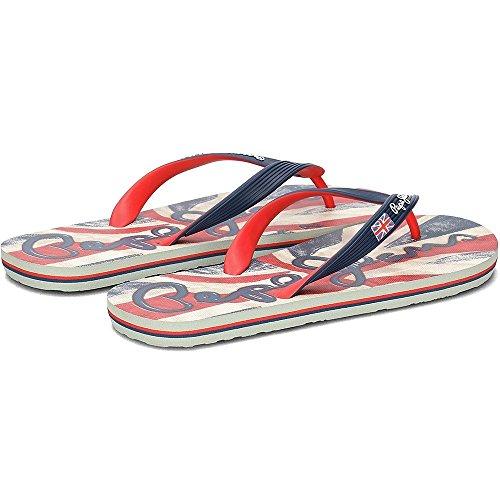 Pepe Jeans Hawi Flagga - Pms70050585 Röd-marinblått