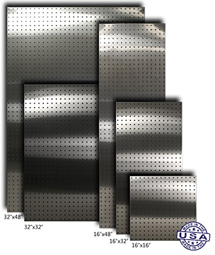 Stainless Supply Stainless Steel Pegboard (Various Sizes Available; See Drop Down Menu) - Selected Size: (32''x32'' - 304 [2-pack]) by Stainless Supply