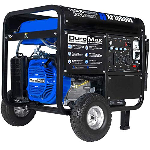 DuroMax XP10000E Gas Powered Portable Generator - 10000 Watt -Electric Start- Home Back Up & RV Ready, 50 State Approved