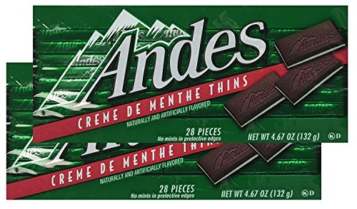 Andes Creme De Menthe Thins - 28 Pieces (Pack of 2)