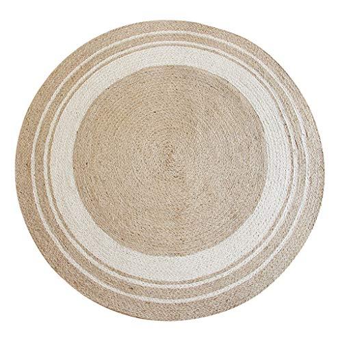 CarPet Rugs Round Handmade Jute Natural (Color : ()