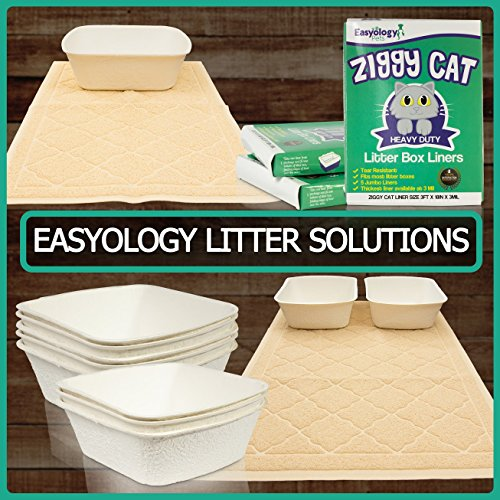 Easyology Extra Large 35'' x 23'' Cat Litter Mat, Traps Messes, Easy Clean, Durable, Non Toxic - LIGHT GREY by Easyology (Image #9)