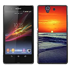 For Sony Xperia Z L36H - Sunset Sea Beautiful Nature 14 /Caja protectora de pl???¡¯????stico duro de la cubierta Dise???¡¯???¡Ào Slim Fit/ - Super Marley