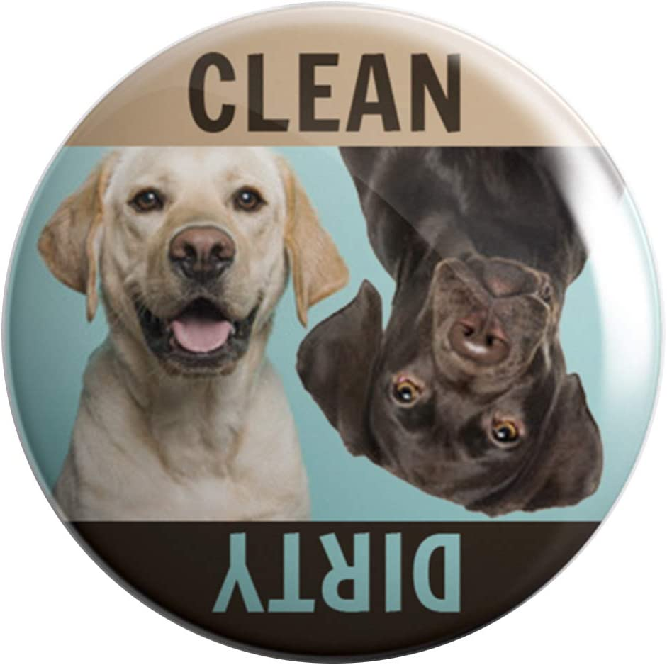 Printing For Peanuts Labrador Retriever Dishwasher Magnet Clean Dirty - Professionally Made in USA - Gifts Golden Chocolate Lab Dogs Pets