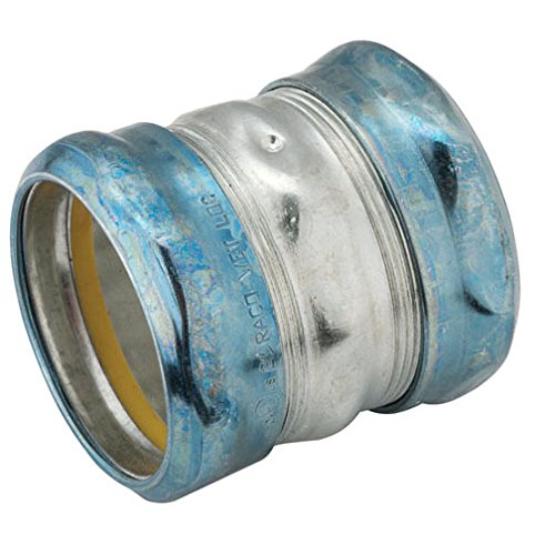 Hubbell-Raco 2928RT-2 Coupling, Raintight Compression, EMT, Steel, Uninsulated, 2-Inch