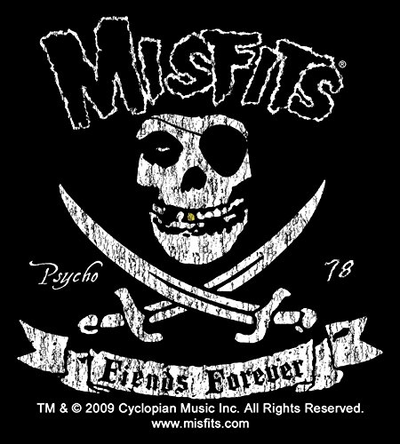 Patch The Pirate Club - Sticker Misfits Fiends Forever Club Crimson Pirate Ghost Logo Music Band Decal