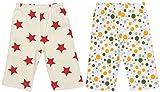Maple Clothing Organic Cotton Baby Pants GOTS (2 Pack, Star/Dot, 18-24m)