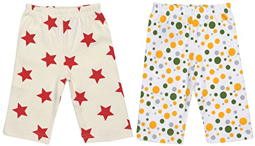 Maple Clothing Organic Cotton Baby Pants GOTS (2 Pack, Star/Dot, 0-3m) by Maple Clothing (Image #1)